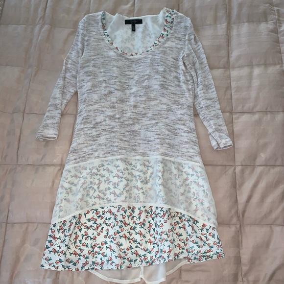 Jessica Simpson Sweater Tunic Floral Mini Dress